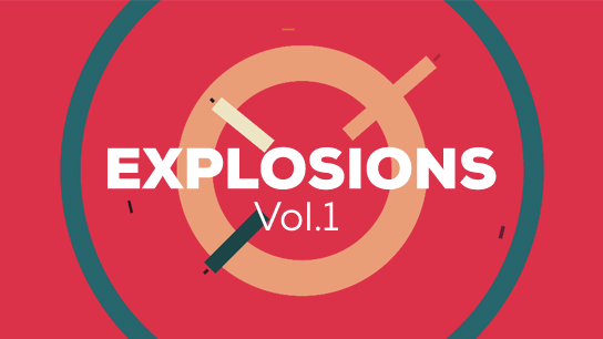Vector explosions pack 1