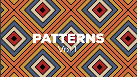 Animated seamless colorful pattern